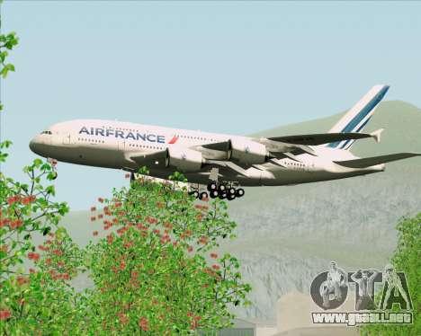 Airbus A380-861 Air France para vista inferior GTA San Andreas