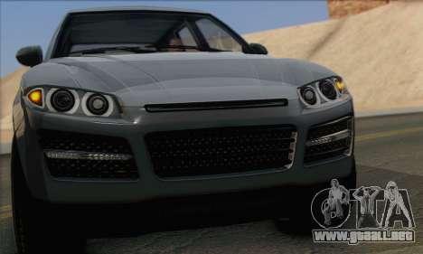 Obey Rocoto 1.0 (IVF) para GTA San Andreas vista posterior izquierda