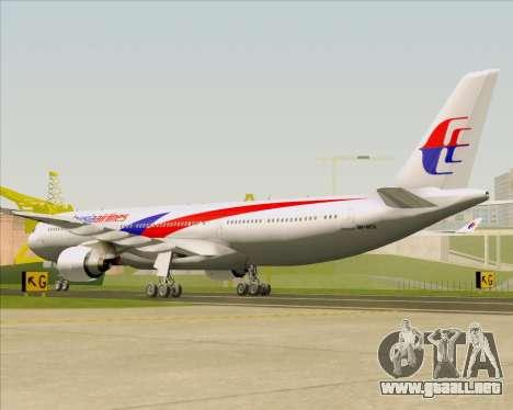 Airbus A330-323 Malaysia Airlines para la visión correcta GTA San Andreas