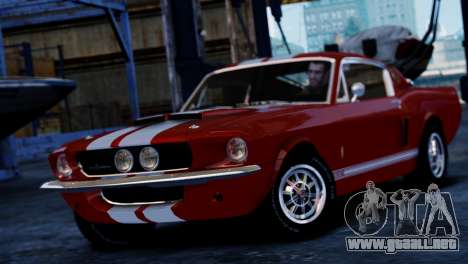 Shelby Cobra GT500 1967 para GTA 4 Vista posterior izquierda