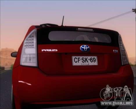 Toyota Prius para la vista superior GTA San Andreas