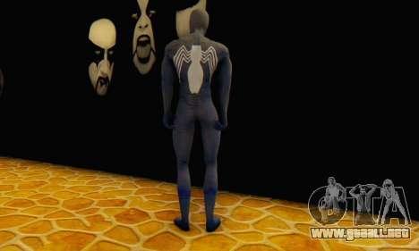Skin The Amazing Spider Man 2 - DLC Black Suit para GTA San Andreas tercera pantalla
