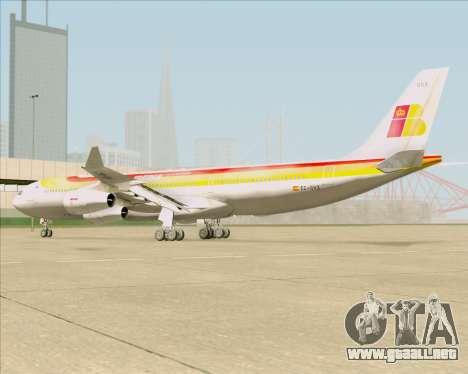 Airbus A340 -313 Iberia para GTA San Andreas vista hacia atrás