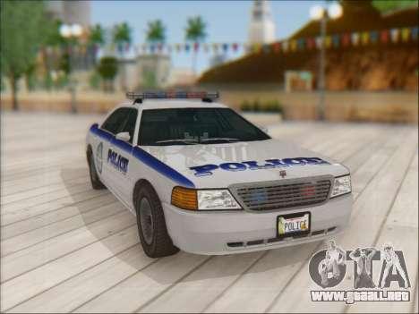 Admiral Police para vista lateral GTA San Andreas