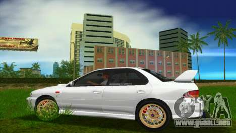 Subaru Impreza WRX STI GC8 Sedan Type 3 para GTA Vice City vista posterior