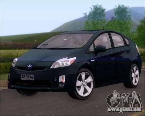 Toyota Prius para GTA San Andreas vista posterior izquierda