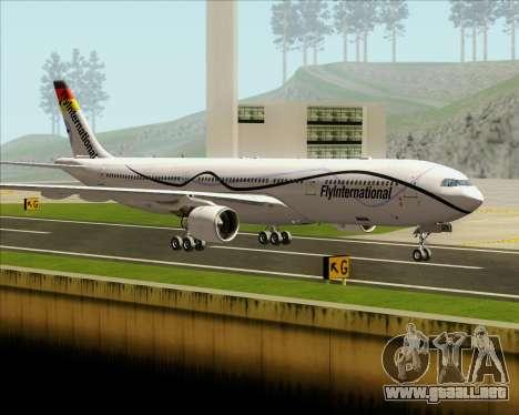 Airbus A330-300 Fly International para vista lateral GTA San Andreas