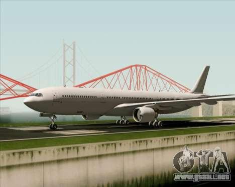 Airbus A330-300 Full White Livery para GTA San Andreas vista hacia atrás
