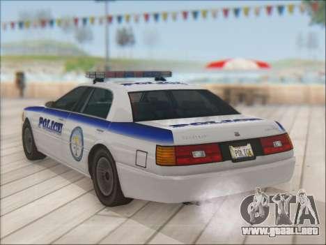 Admiral Police para vista inferior GTA San Andreas