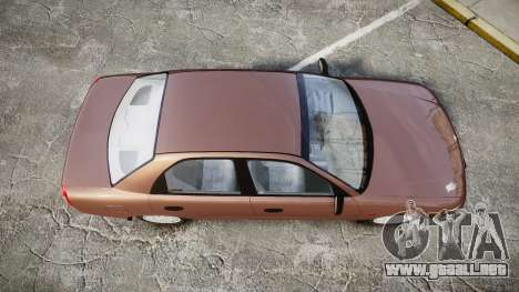 Daewoo Nubira I Sedan S PL 1997 para GTA 4 visión correcta