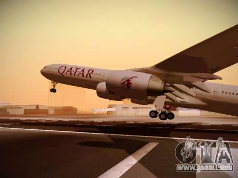 Airbus A340-600 Qatar Airways para la vista superior GTA San Andreas