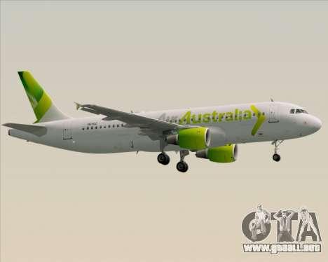 Airbus A320-200 Air Australia para la visión correcta GTA San Andreas