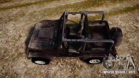 Jeep Wrangler Unlimited Rubicon para GTA 4 visión correcta