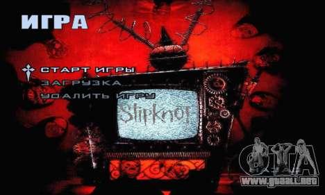 Metal Menu - Slipknot para GTA San Andreas segunda pantalla
