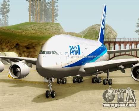 Airbus A380-800 All Nippon Airways (ANA) para vista inferior GTA San Andreas