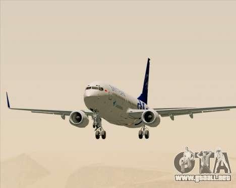 Boeing 737-86N Garuda Indonesia para visión interna GTA San Andreas