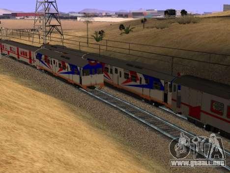 Indonesia tren de diesel de MCW 302 para GTA San Andreas vista hacia atrás
