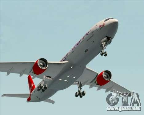 Airbus A330-300 Virgin Atlantic Airways para vista lateral GTA San Andreas