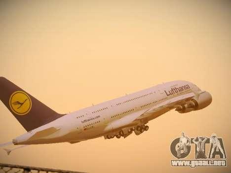 Airbus A380-800 Lufthansa para visión interna GTA San Andreas