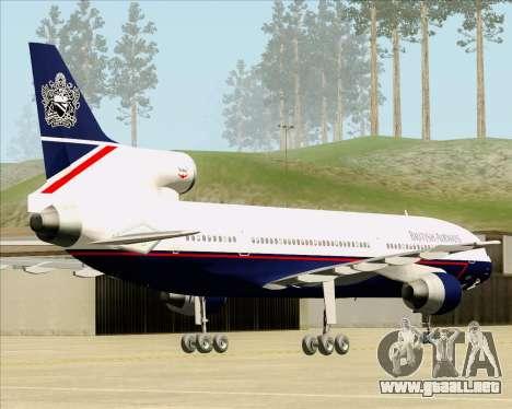 Lockheed L-1011 TriStar British Airways para GTA San Andreas vista posterior izquierda