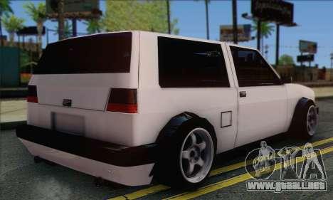 Volkswagen Club Mk2 para GTA San Andreas left