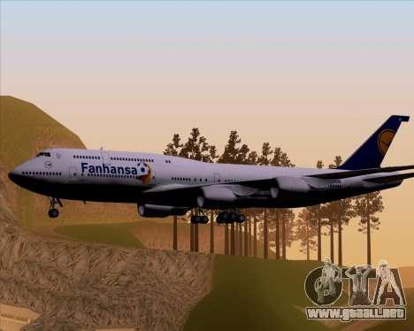 Boeing 747-830 Lufthansa - Fanhansa para la visión correcta GTA San Andreas
