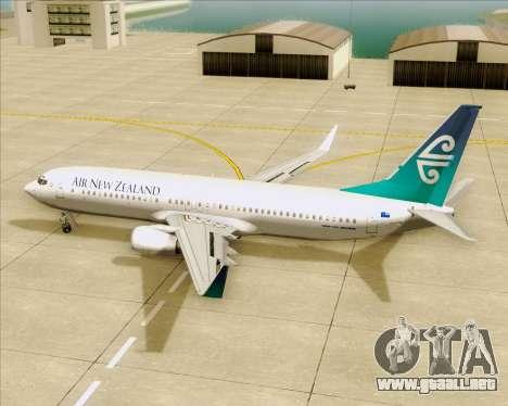 Boeing 737-800 Air New Zealand para GTA San Andreas interior