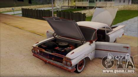 Chevrolet Biscayne 1959 Ratlook para GTA San Andreas vista hacia atrás