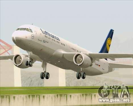 Airbus A320-211 Lufthansa para GTA San Andreas left