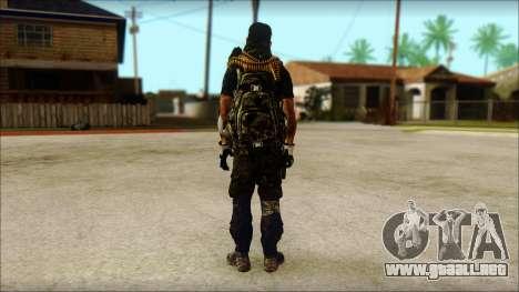 Australian Resurrection Skin from COD 5 para GTA San Andreas segunda pantalla