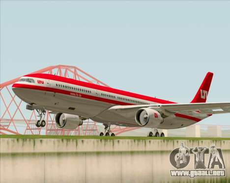 Airbus A330-300 LTU International para GTA San Andreas left