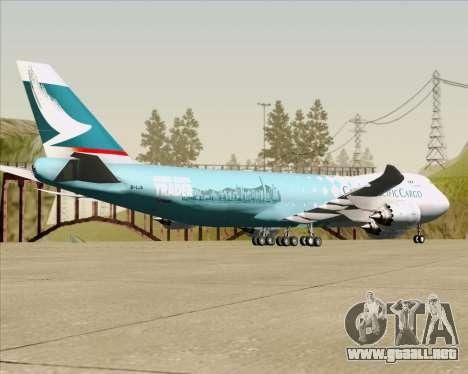 Boeing 747-8 Cargo Cathay Pacific Cargo para GTA San Andreas vista hacia atrás