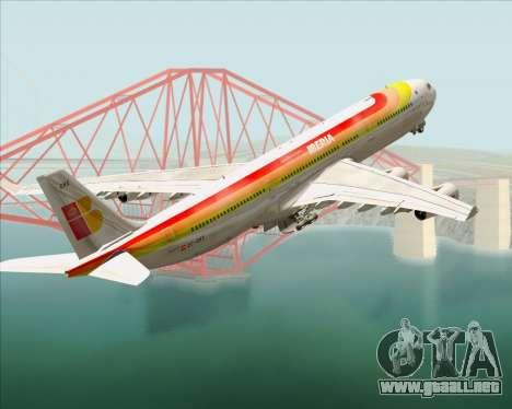 Airbus A340 -313 Iberia para las ruedas de GTA San Andreas