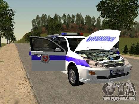 Ford Focus de Policía de la región de Nizhny Nov para visión interna GTA San Andreas