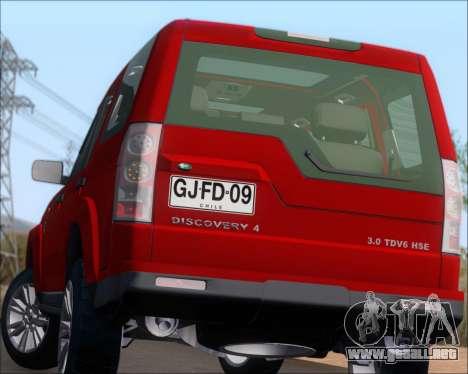 Land Rover Discovery 4 para vista inferior GTA San Andreas
