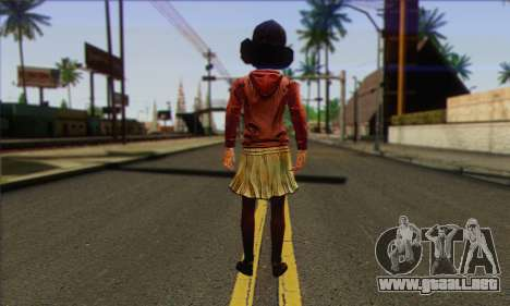 Klementine from Walking Dead para GTA San Andreas segunda pantalla