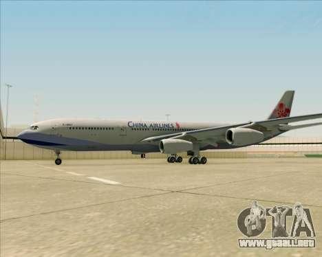 Airbus A340-313 China Airlines para vista inferior GTA San Andreas
