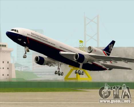 Lockheed L-1011 TriStar British Airways para vista inferior GTA San Andreas