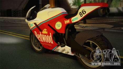 Bati RR 801 Redwood para GTA San Andreas left