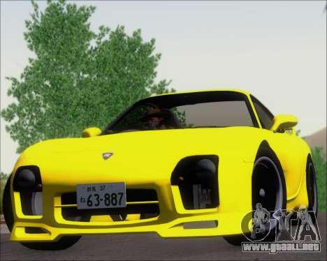 Mazda RX-7 FD3S A-Spec para GTA San Andreas vista hacia atrás