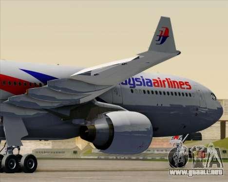Airbus A330-323 Malaysia Airlines para GTA San Andreas interior