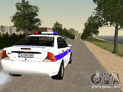 Ford Focus de Policía de la región de Nizhny Nov para la visión correcta GTA San Andreas