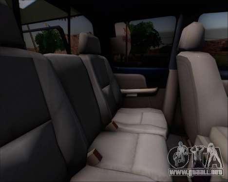 Chevrolet Silverado Gope para GTA San Andreas vista hacia atrás