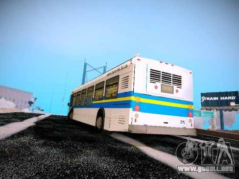 NewFlyer D40LF TransLink Vancouver BC para GTA San Andreas vista posterior izquierda