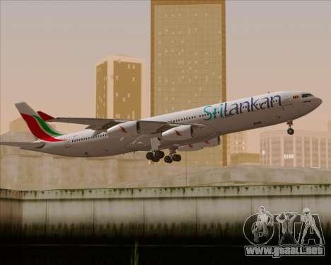 Airbus A340-313 SriLankan Airlines para el motor de GTA San Andreas