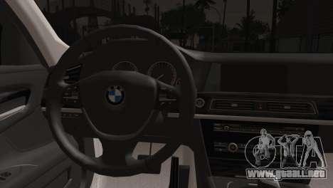 BMW 760 para GTA San Andreas vista posterior izquierda