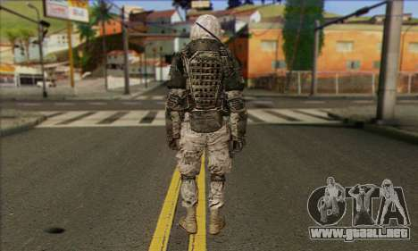Task Force 141 (CoD: MW 2) Skin 3 para GTA San Andreas segunda pantalla