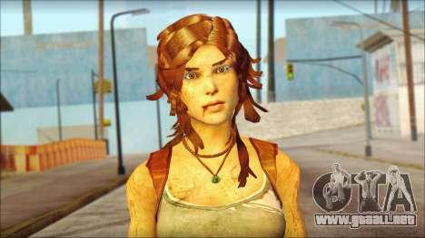 Tomb Raider Skin 7 2013 para GTA San Andreas tercera pantalla
