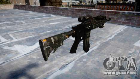 Automatic rifle Colt M4A1 ce digital para GTA 4 segundos de pantalla