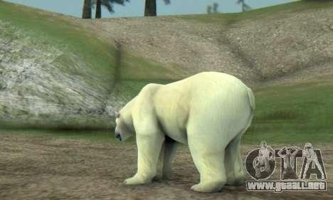 Polar Bear (Mammal) para GTA San Andreas sucesivamente de pantalla
